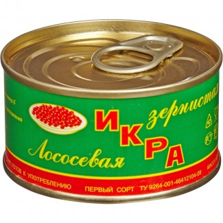 "Икра лососевая ж/б 140 гр. ГОСТ ""Камчатка """